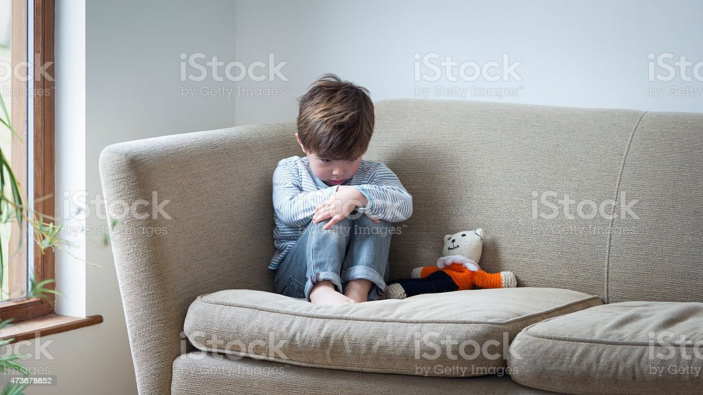 He doesn't feel safe in his own home stock photo