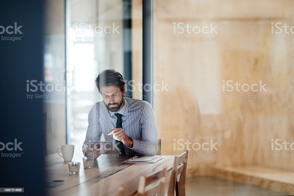 He doesn't know the meaning of 9-5 stock photo