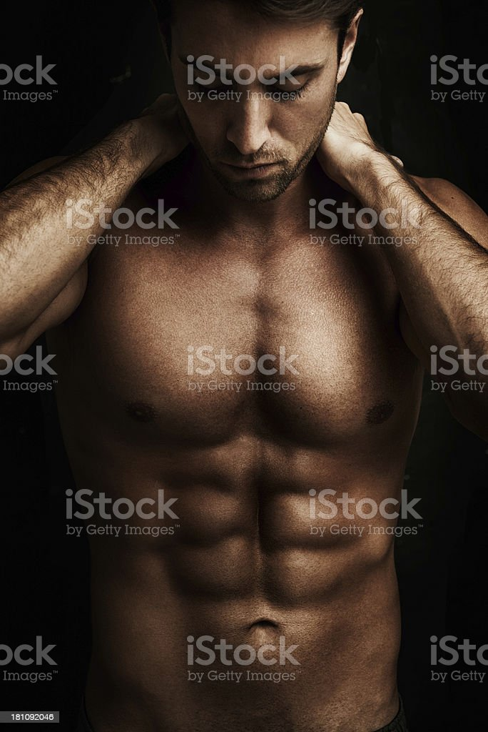 He eats clean and trains hard royalty-free stock photo
