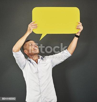 1048561956istockphoto He encourages freedom of speech 854446550
