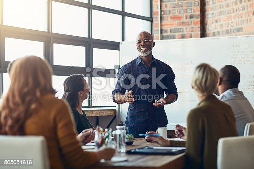 istock He enjoys giving these presentations 805054616