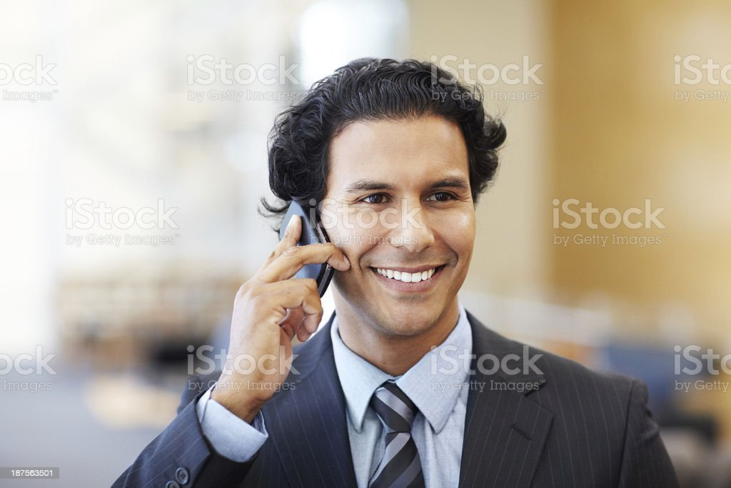 He excels at business stock photo