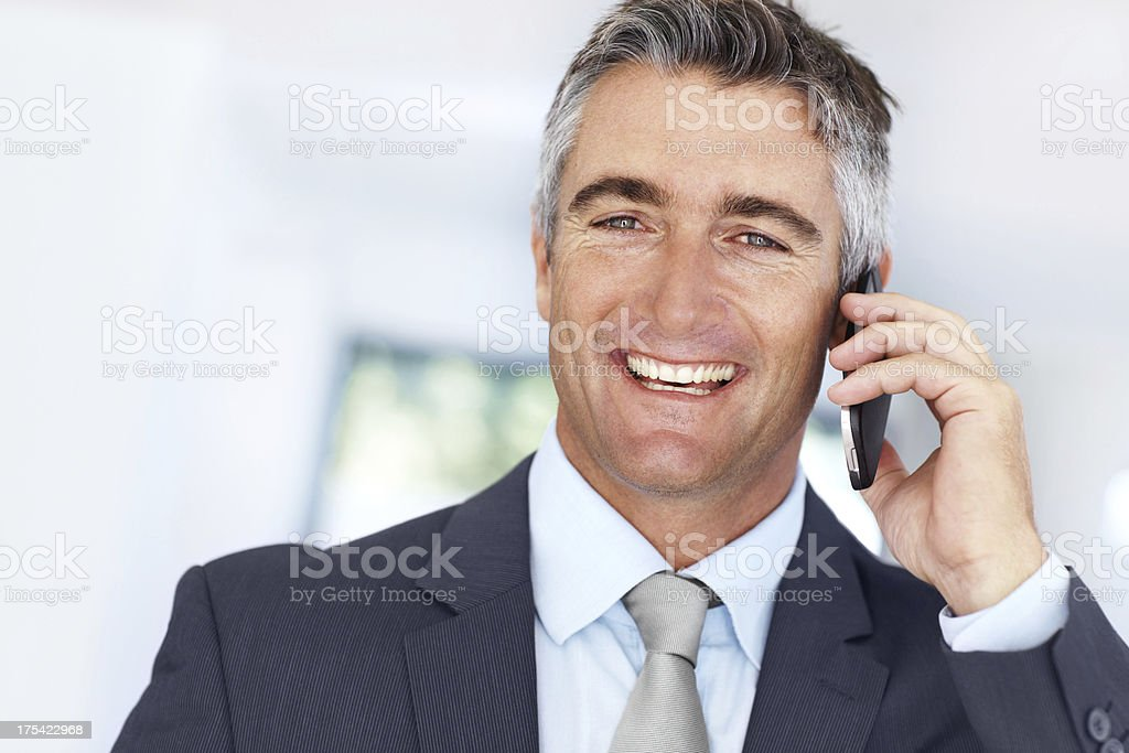He excels at networking! stock photo
