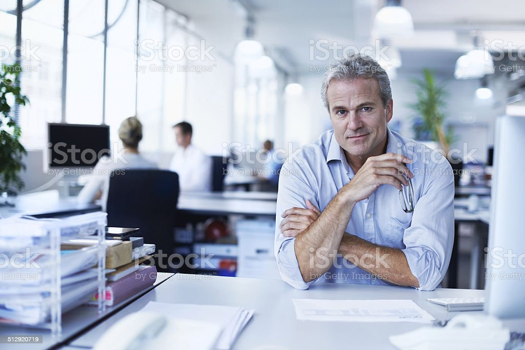 He exudes confidence stock photo