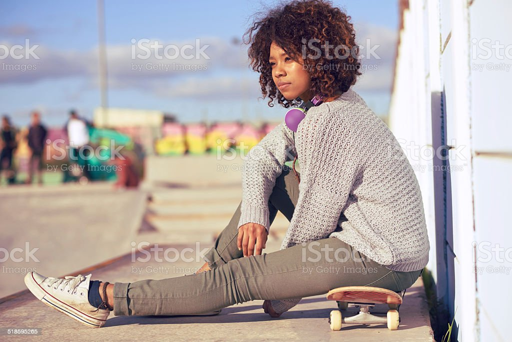 He favourite place to contemplate stock photo