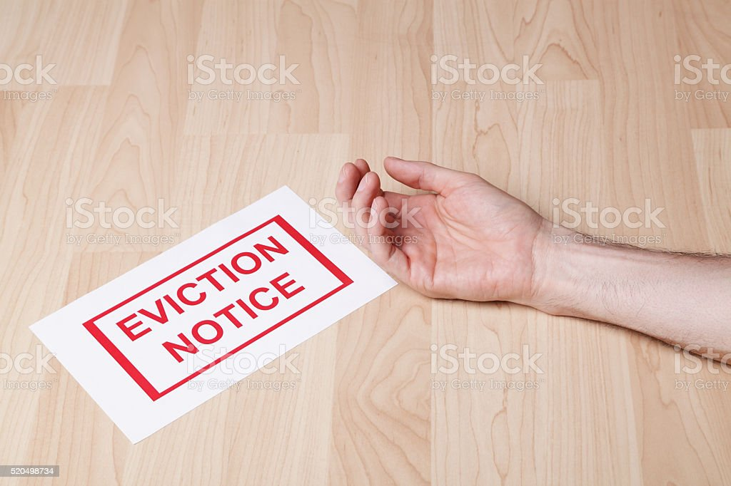 He got a heart attack after getting an eviction notice royalty-free stock photo