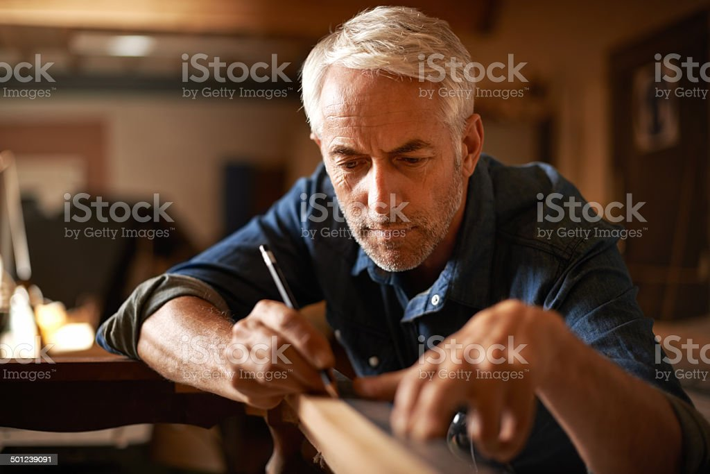 He had an eye for detail stock photo
