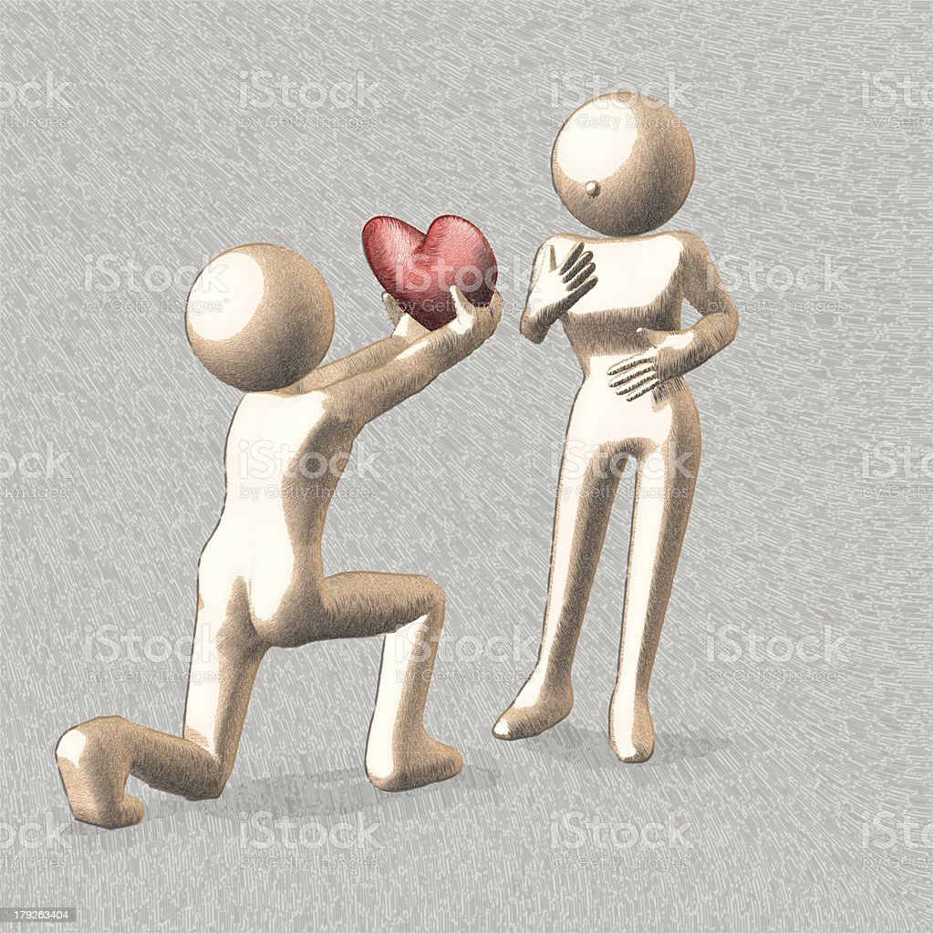 He has a confession of love. royalty-free stock photo