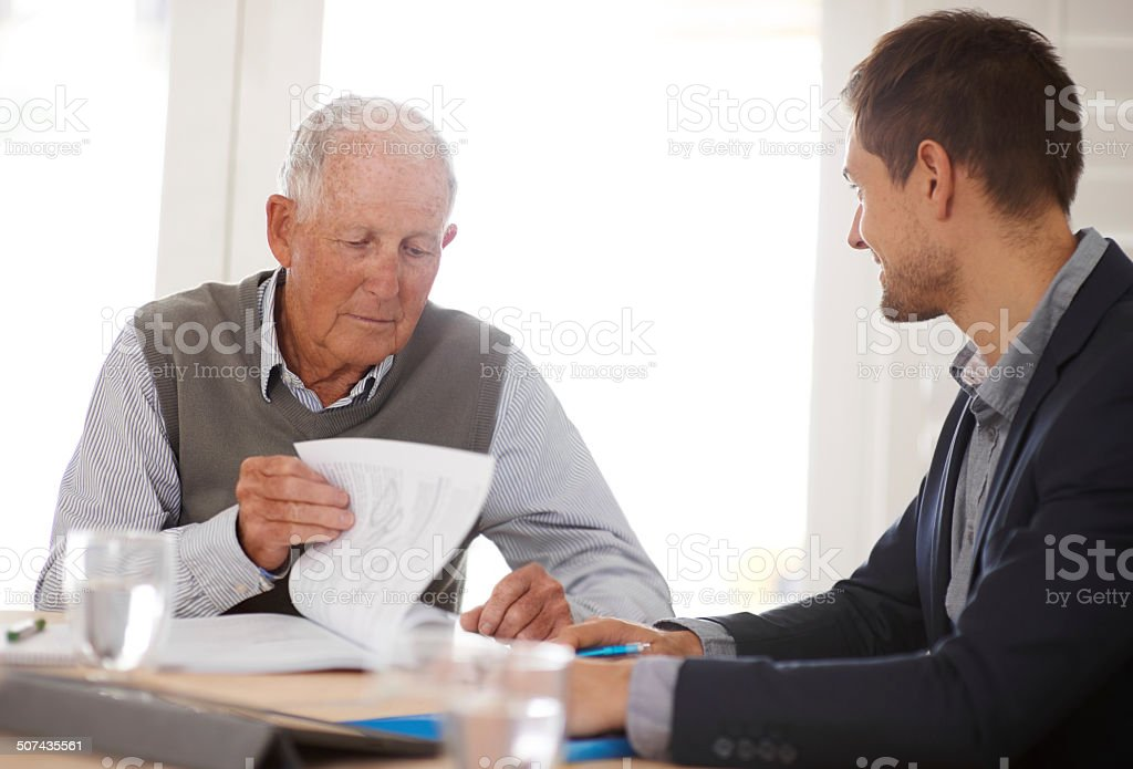 He has a good understanding of his coverage now stock photo