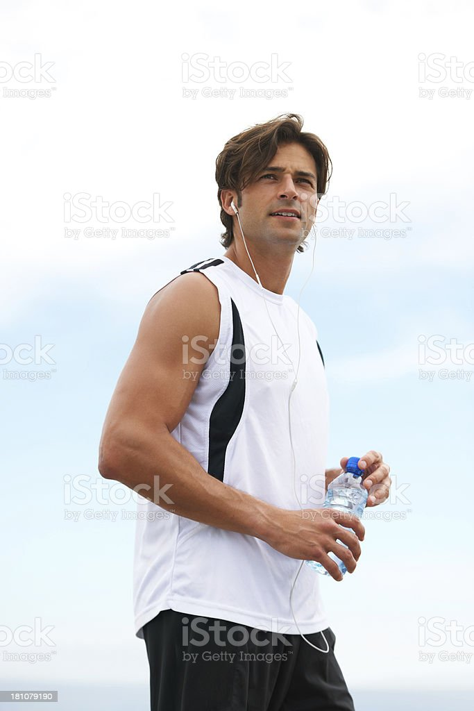 He has a strong motivation for physical fitness royalty-free stock photo