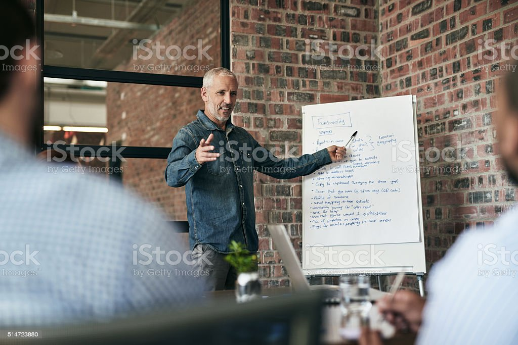 He has a vision and he's not afraid to share stock photo