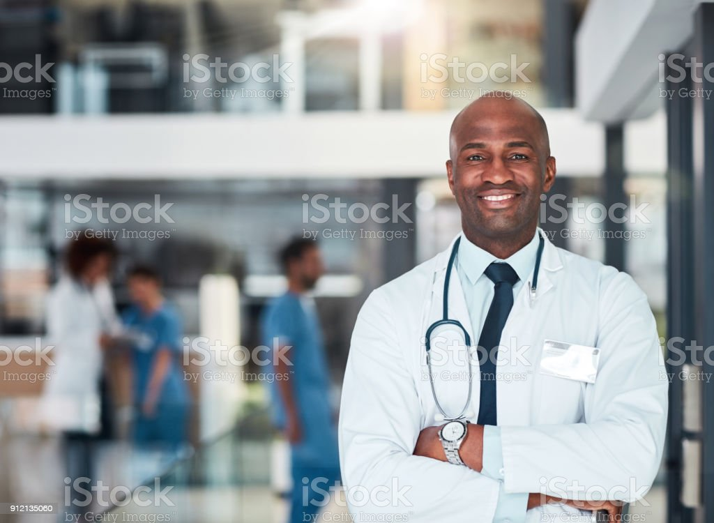 He has all the answers stock photo