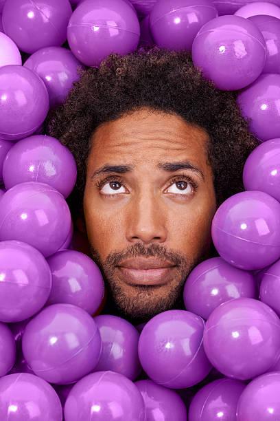 He has alot of balls stock photo