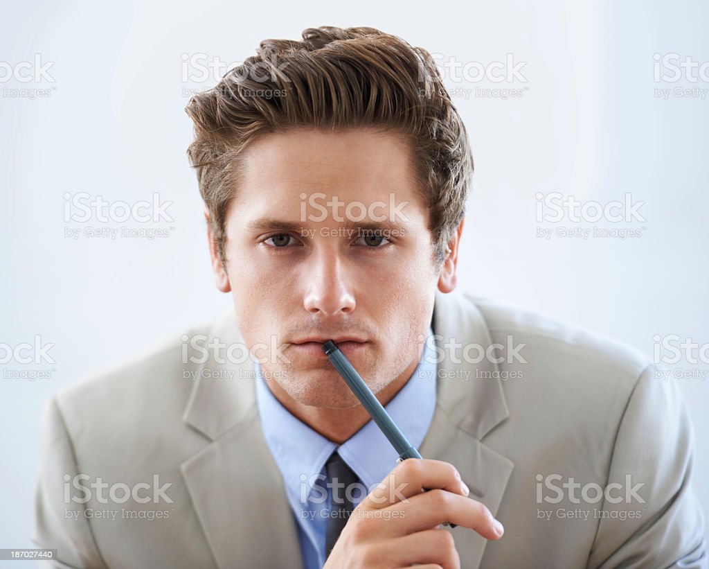 He has an acute business mind royalty-free stock photo