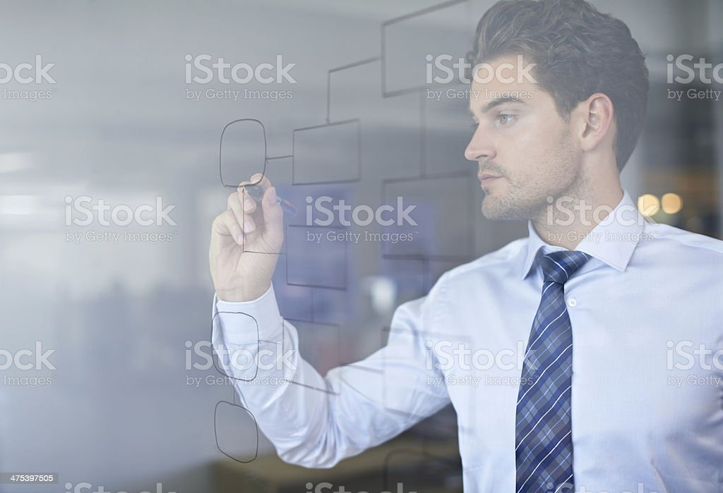 He has excellent organizational skills! stock photo
