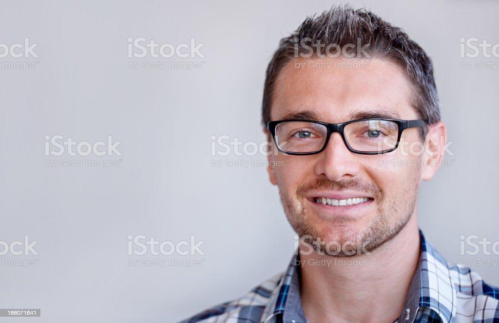 He has many creative ideas stock photo