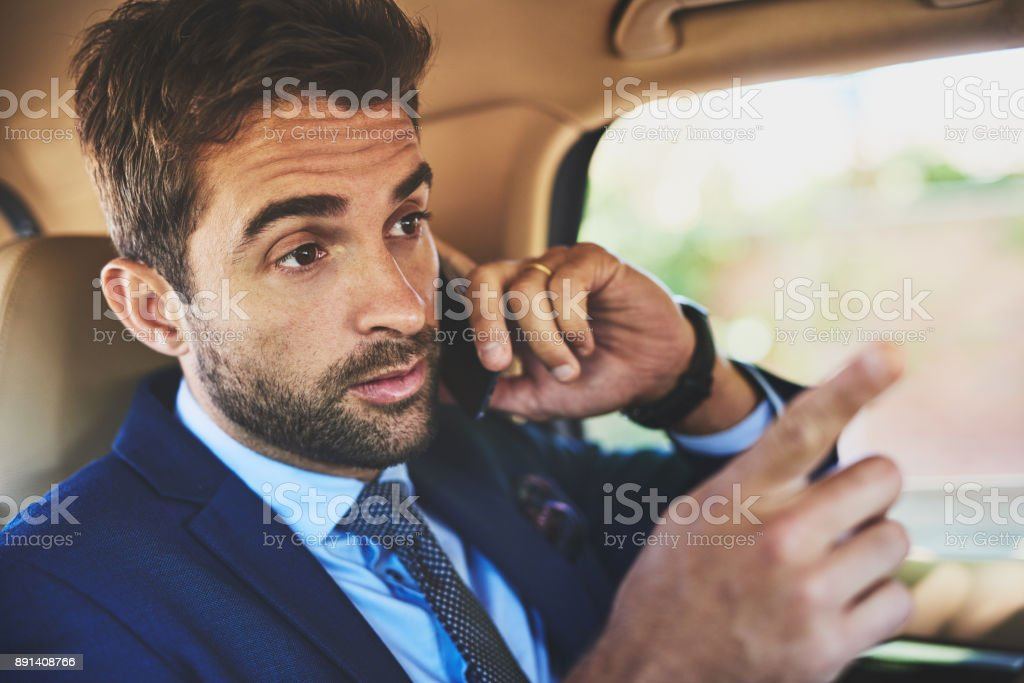 He is a brilliant negotiator stock photo
