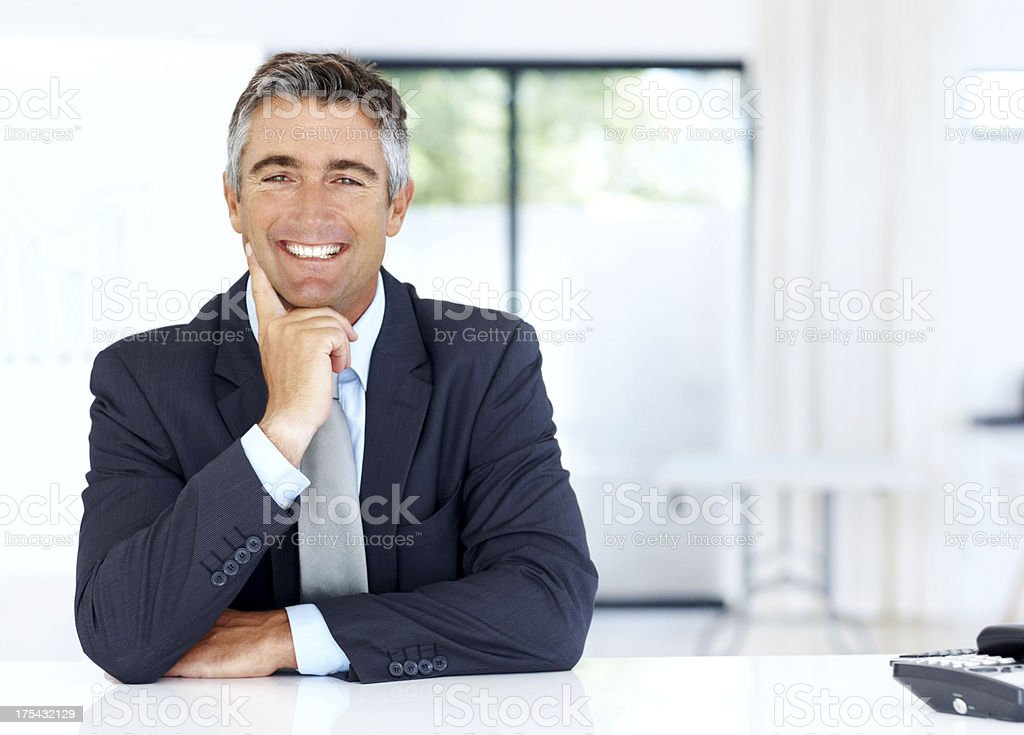 He is a consultant you can trust! royalty-free stock photo