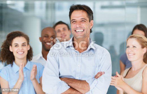 istock He is a fantastic leader! 471727569