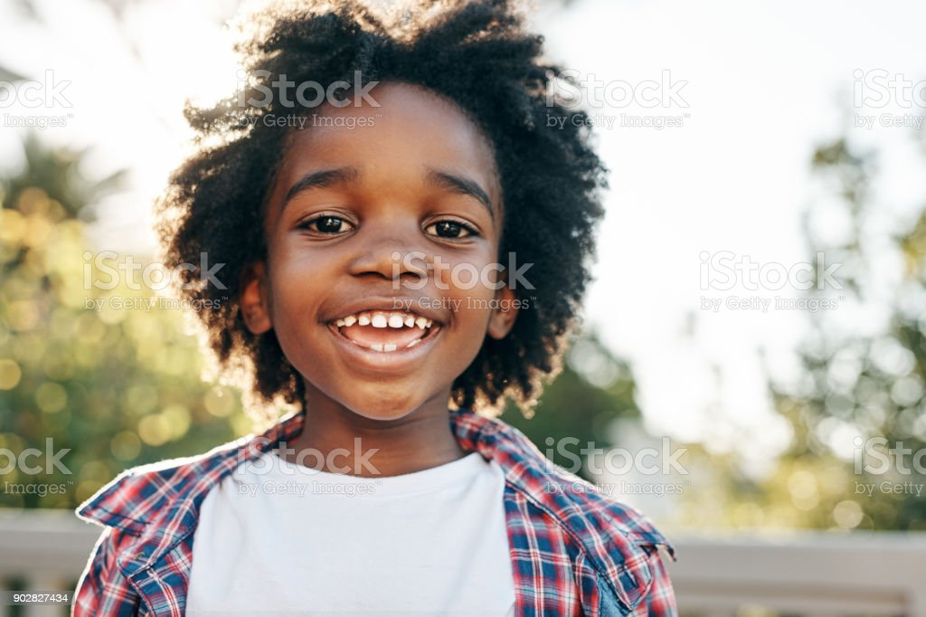 He is a summer child - foto stock