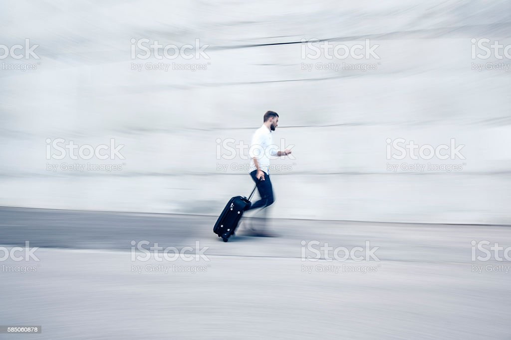 He is always on time stock photo
