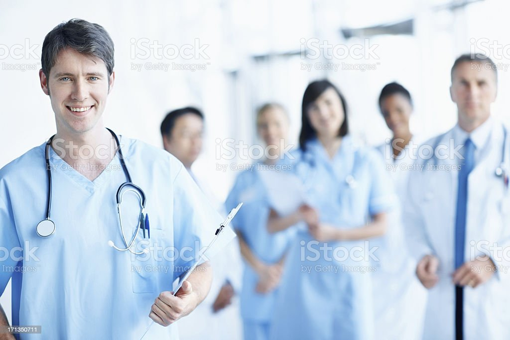 He is eager to begin practising his passion royalty-free stock photo