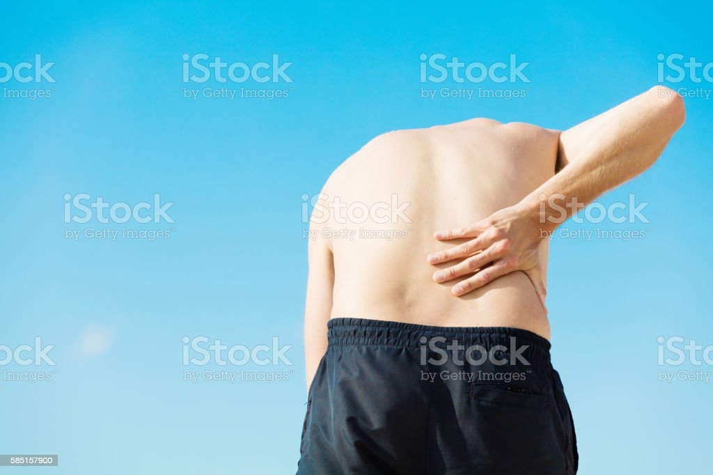 He Is Having Severe Lower Back Pain Royalty Free Stock Photo