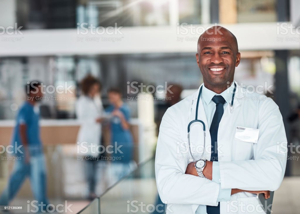 He is on top of his game stock photo