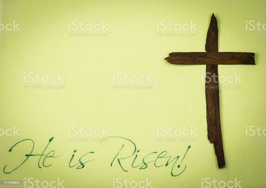 He is Risen - Easter Background royalty-free stock photo
