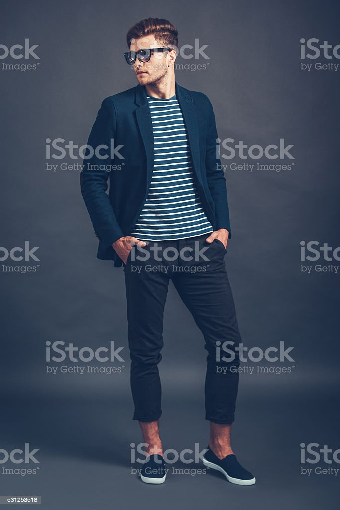 He is so stylish. stock photo