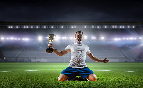 He is the champ . Mixed media stock photo