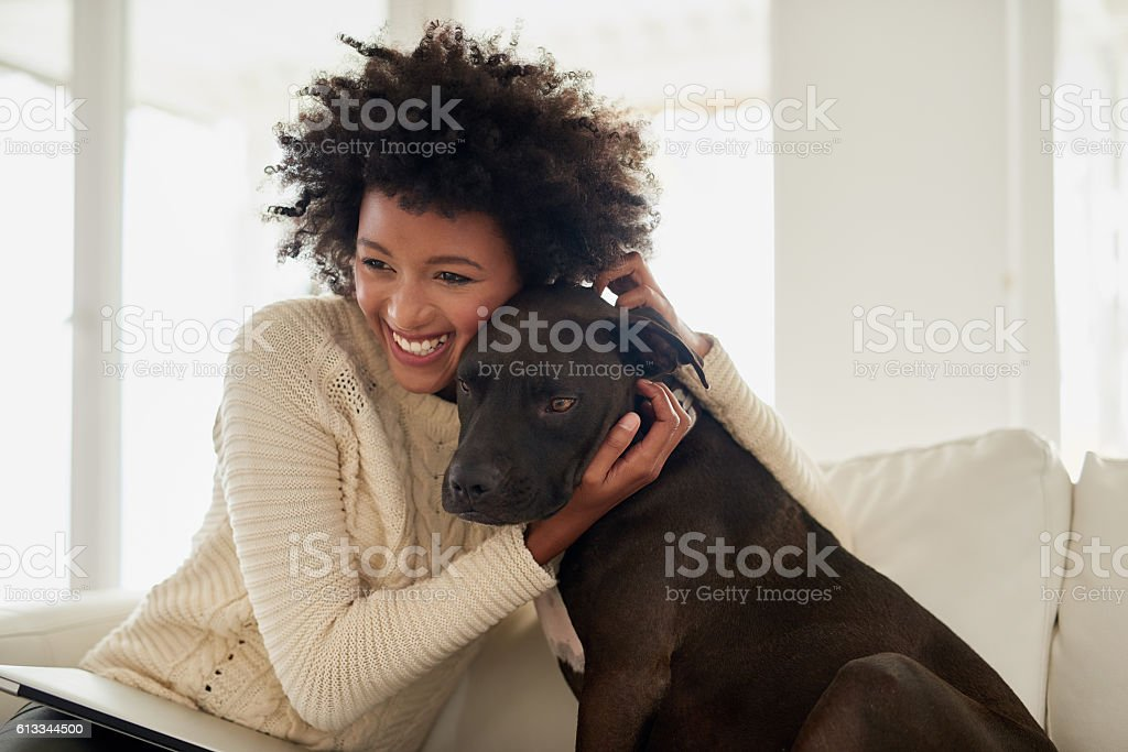 He just wants to cuddle stock photo