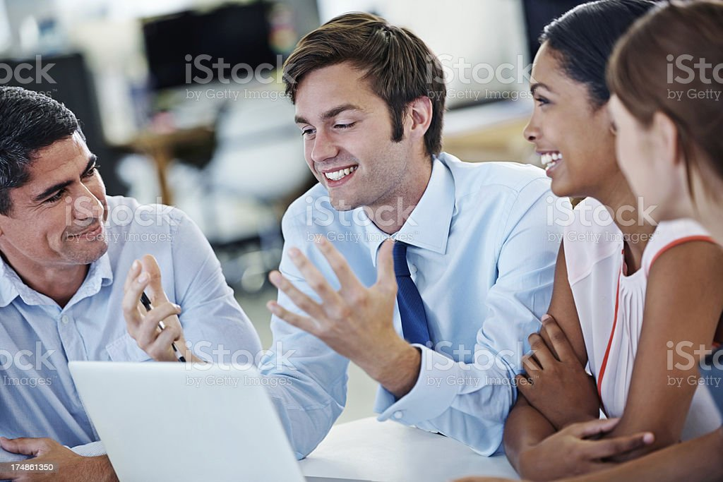 He keeps our meetings upbeat! royalty-free stock photo
