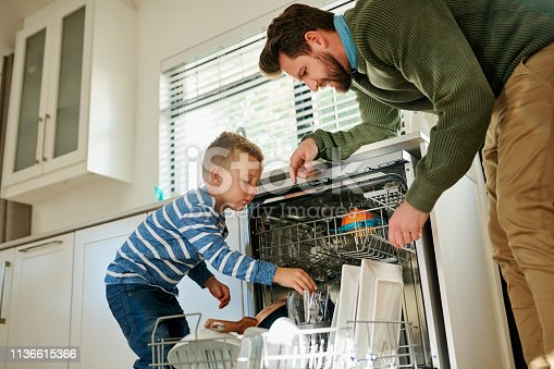 istock He knows how to pack the dishes in the machine 1136615366