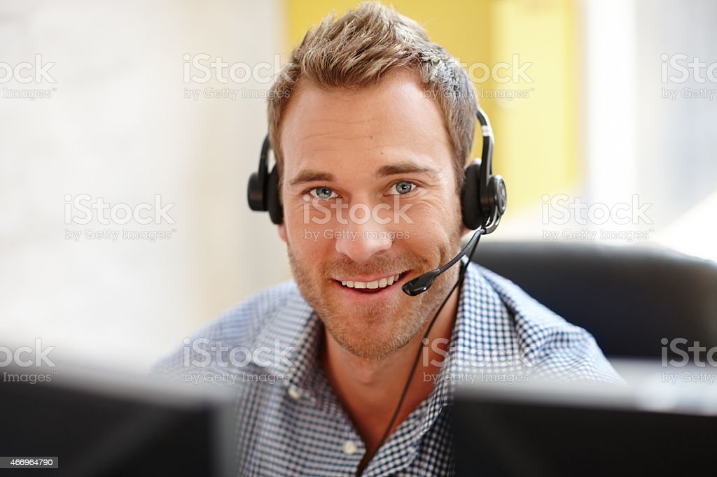 He knows how to sell your product stock photo