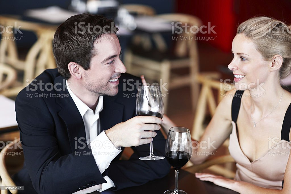 He knows how to treat his women royalty-free stock photo