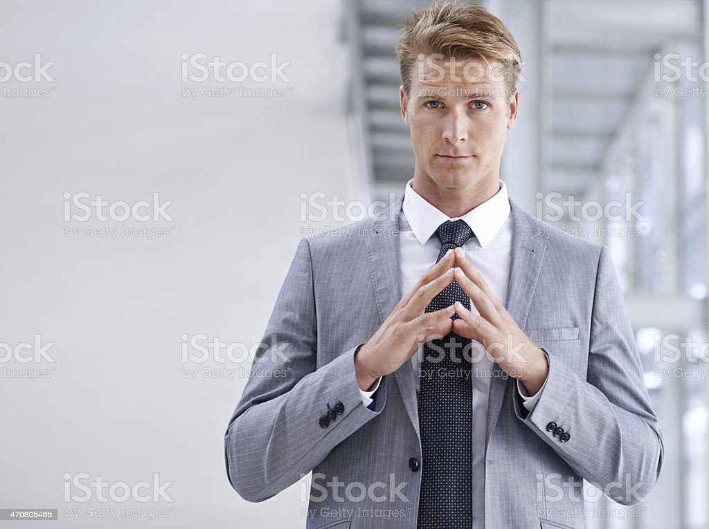 He knows what he's doing stock photo