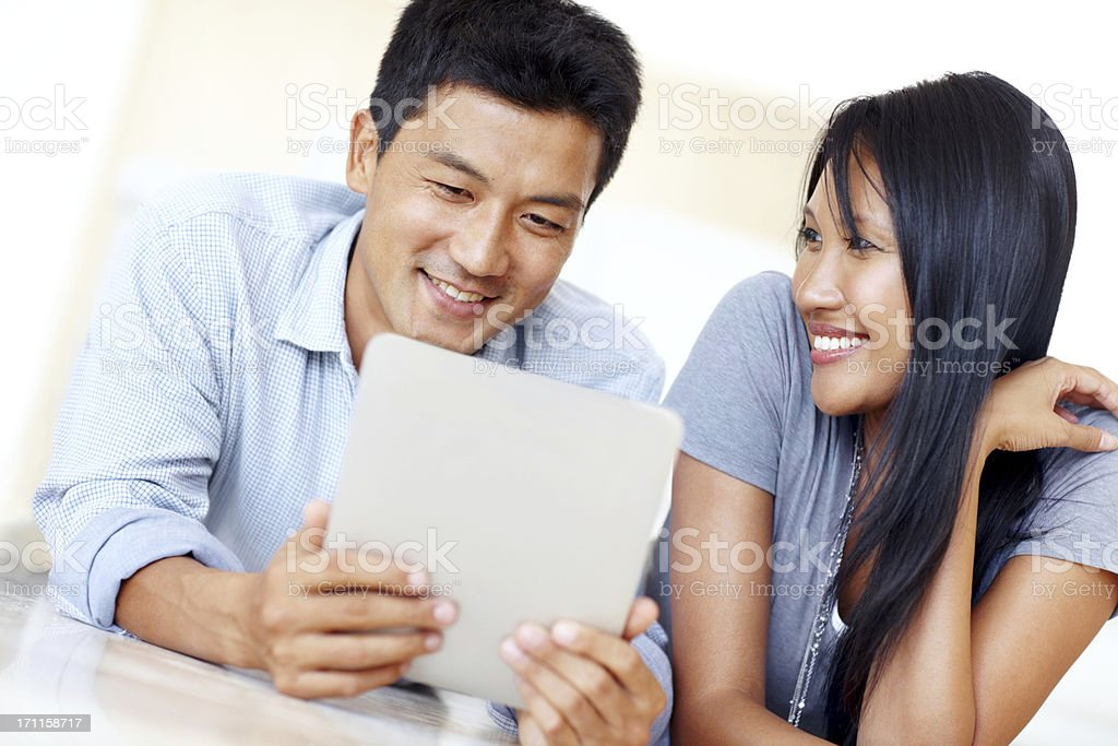 He loves his gadgets! royalty-free stock photo