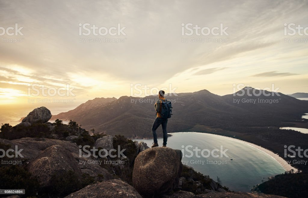 He loves the great outdoors stock photo