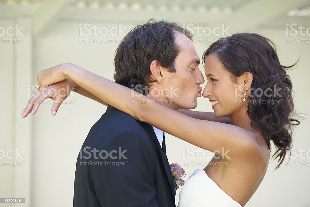 He makes her happy royalty-free stock photo