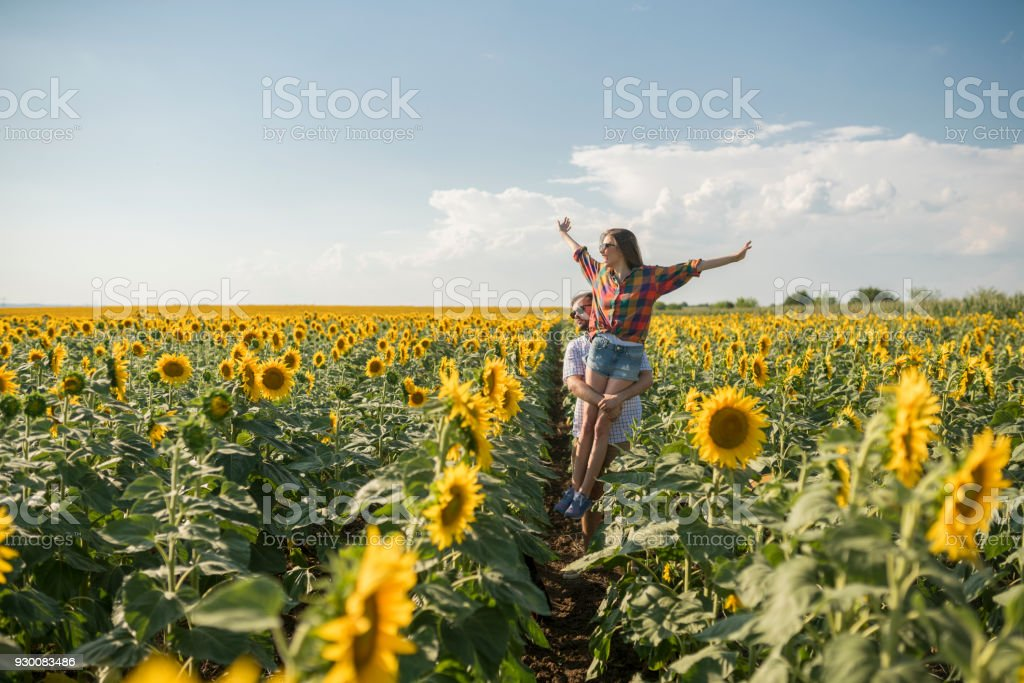 He Makes This Place Even More Special For Her stock photo