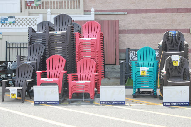 26 Colorful Plastic Adirondack Chairs Stock Photos Pictures Royalty Free Images Istock