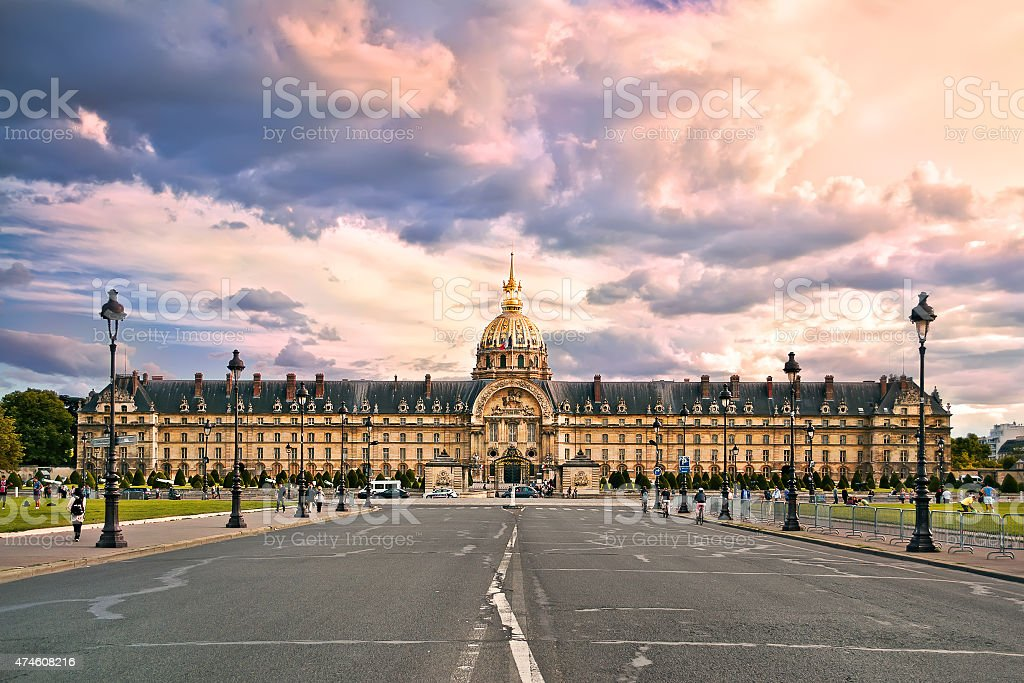 he National Residence of the Invalids. Paris stock photo