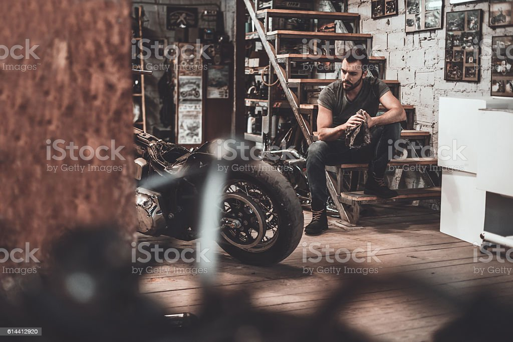 He needs a little break. stock photo