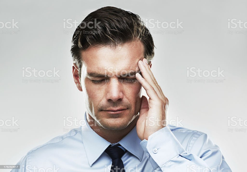He needs some strong pain medication royalty-free stock photo