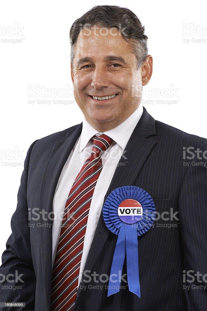 He needs your vote! stock photo