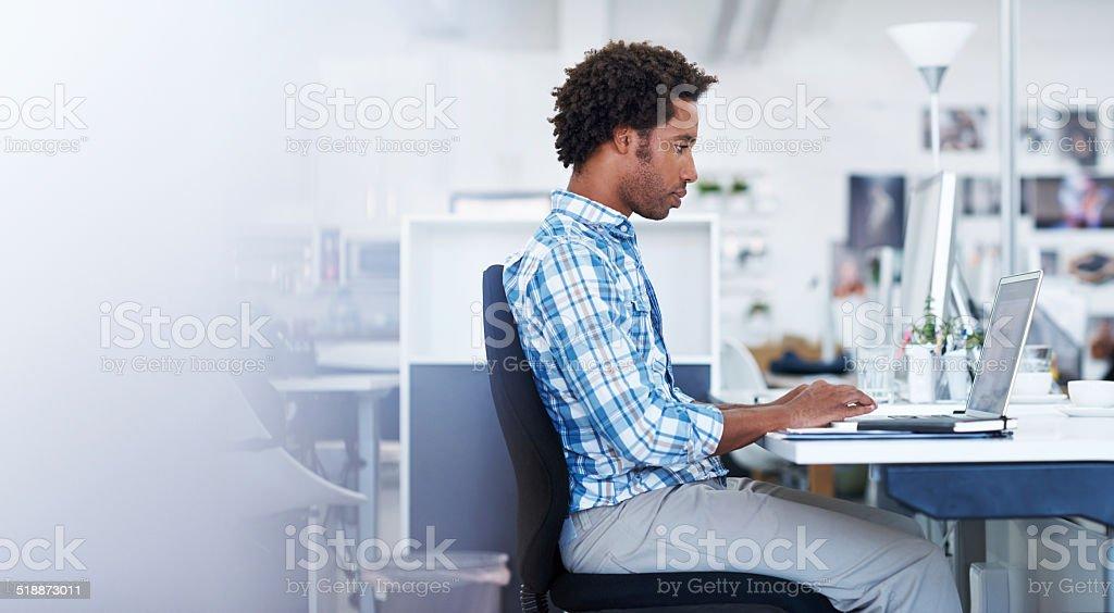 He never misses a deadline stock photo