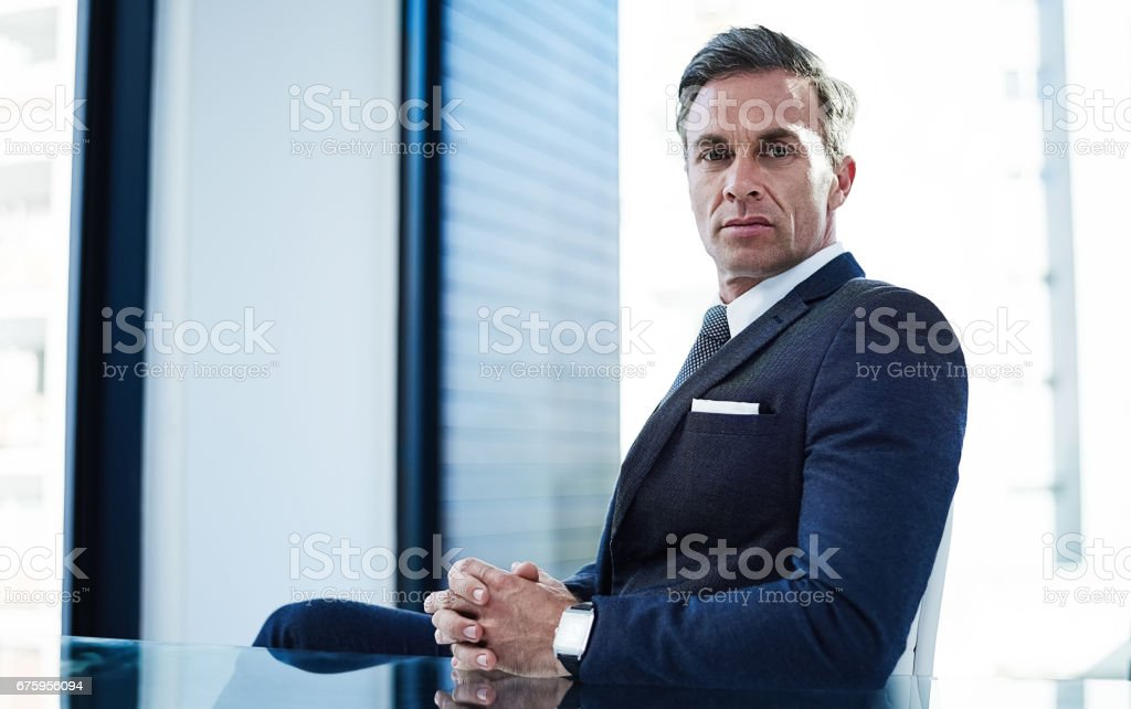 He owns the room royalty-free stock photo