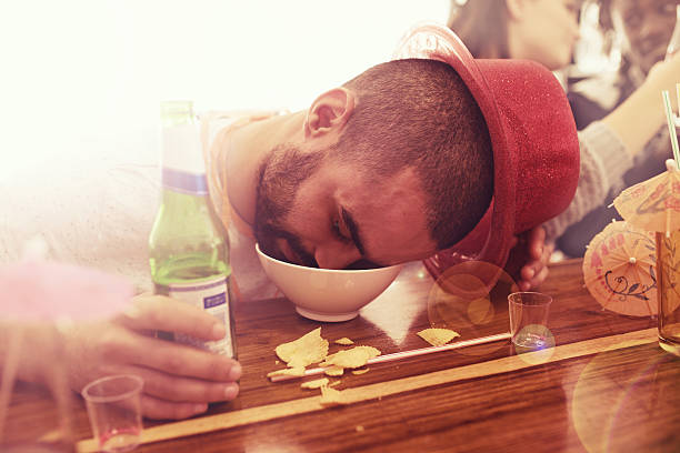 he partied too hard - drunk stock photos and pictures
