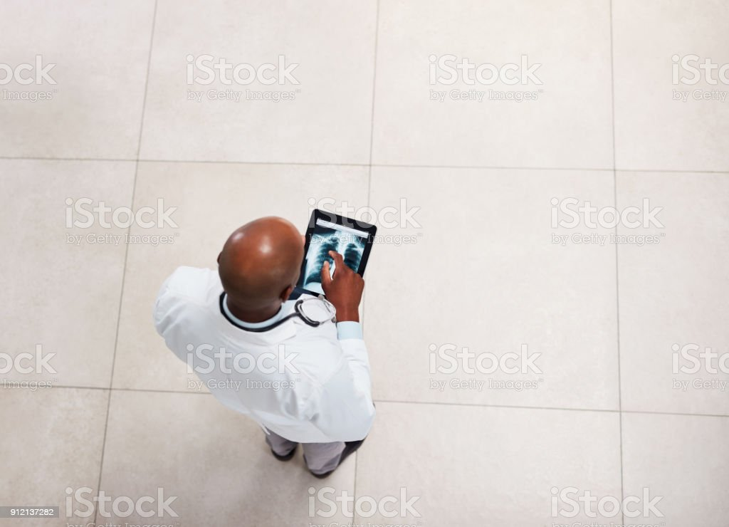 He pays attention to detail stock photo